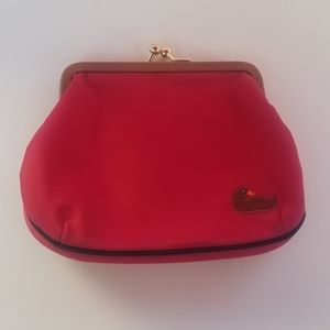 Dooney & Bourke Nylon Deep Red Large Kiss Lock